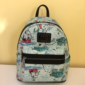 Disney Loungefly Peter Pan Map Backpack